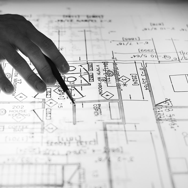 A construction planning document that includes setting up security camera locations